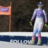 Vonn crashes out in Cortina downhill as Gut claims victory