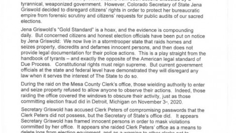 Eagle County clerk receives warning letter defending actions of Mesa County clerk