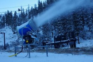 Arapahoe Basin ski area has been making snow since last Friday (A-Basin photo).