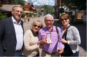 From left, Austrian Trade Commissioner Rudolf Thaler, Susan and Ludwig Kurz and Consul General Karin Proidl in Vail.