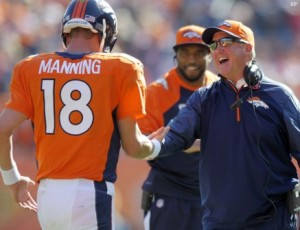 Peyton Manning and John Fox