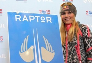 Lindsey Vonn unveils new raptor logo