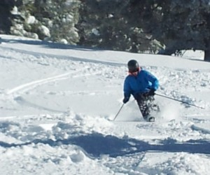 Nick Williams skis powder at Vail