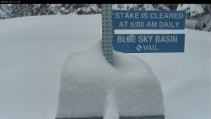 Blue Sky Basin Snow Stake