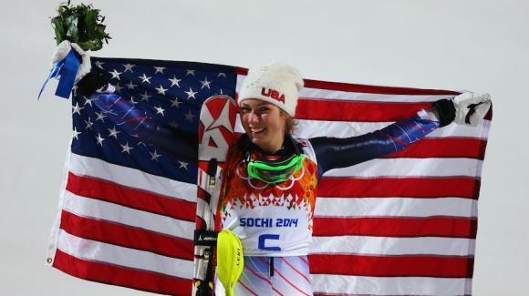 Eagle-Vail's Mikaela Shiffrin, 18, became the youngest woman to ever win Olympic slalom gold on Friday (Getty Images/Alexander Hassenstein).