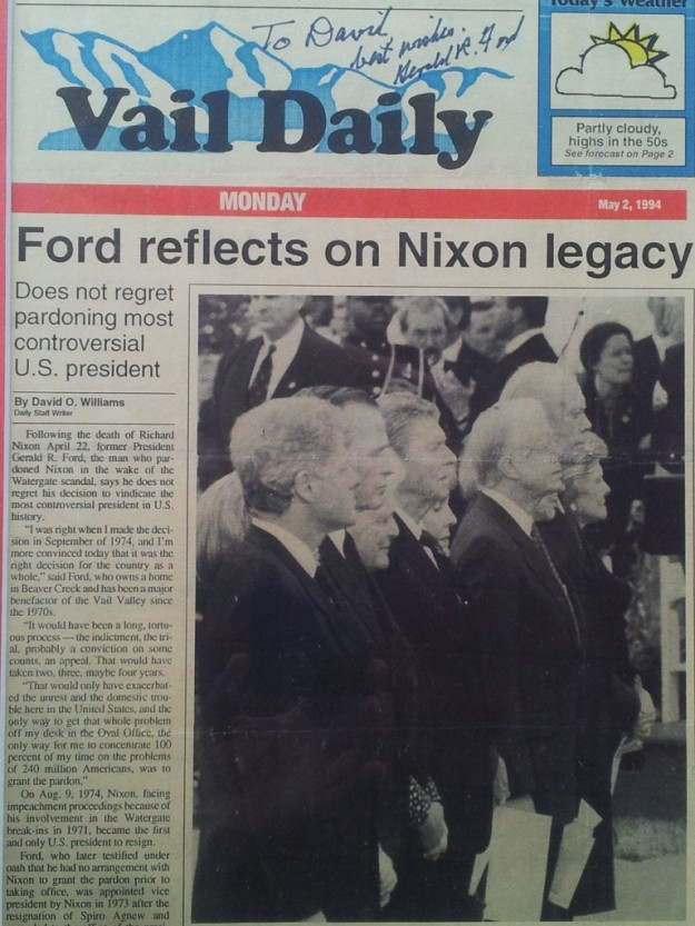 Ford on Nixon's death