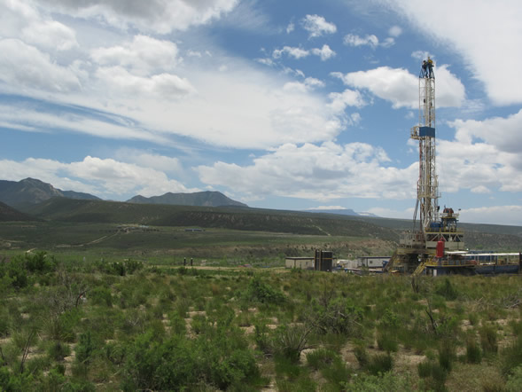 Garfield County gas rig