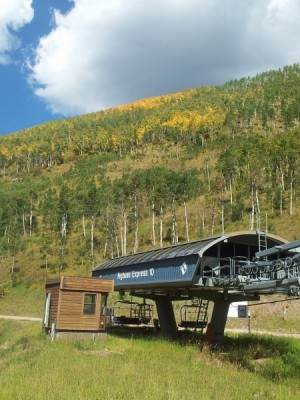 The leaves are changing colors quickly above Chair 10 on Vail Mountain (David O. Williams photo).