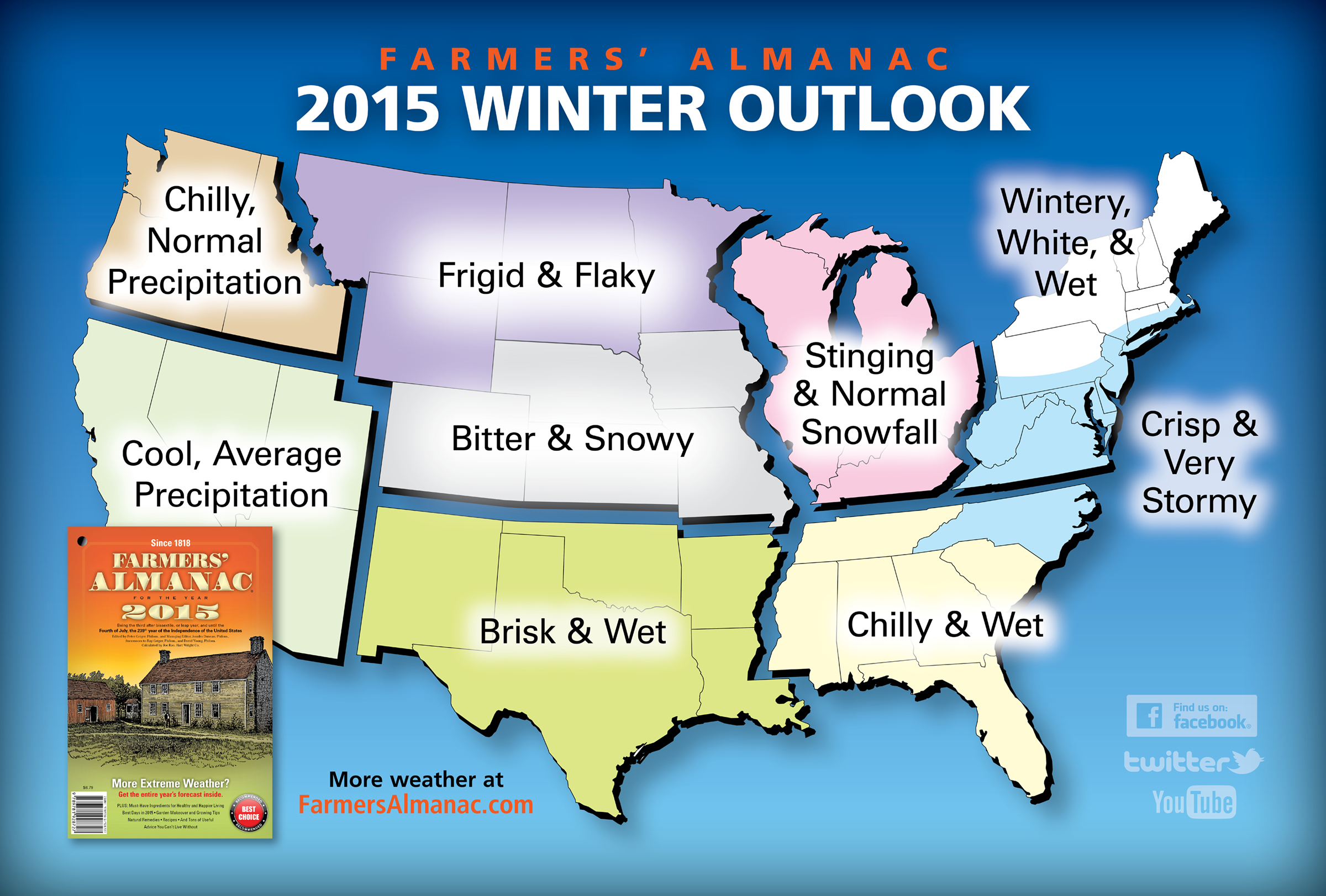 Farmers' Almanac 2015 Winter Outlook