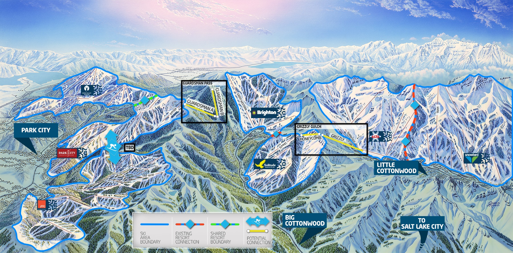 Vails Park CityCanyons Deal Ushers In Era Of The Interconnect - Park city map