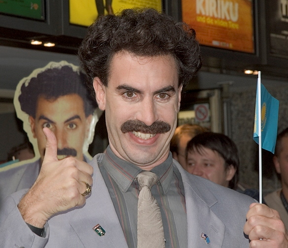 Borat (wiki commons).
