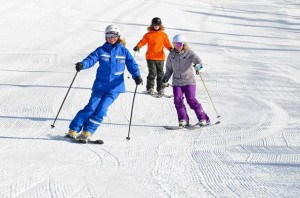 women skiing at Vail