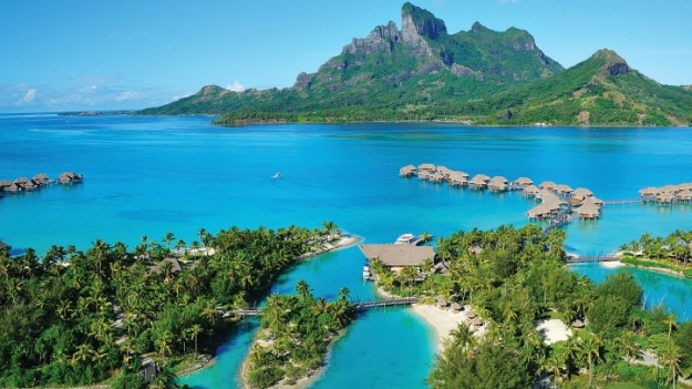 The Four Seasons Resort Bora Bora.