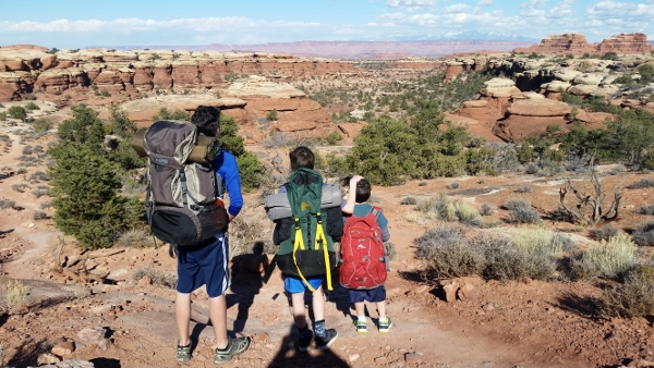 Winter backpacking in the Needles District of Canyonlands National Park (David O. Williams photo).