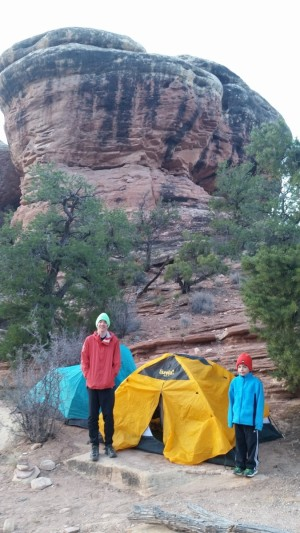 Winter camping in Canyonlands