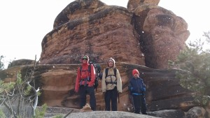 winter hiking in Canyonlands