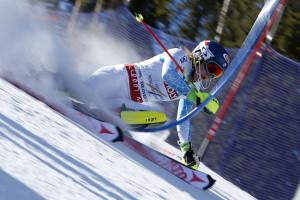 Mikaela wins slalom gold