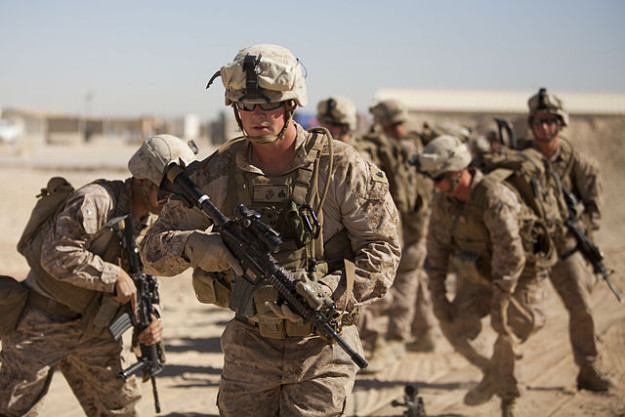 U.S. Marines in action