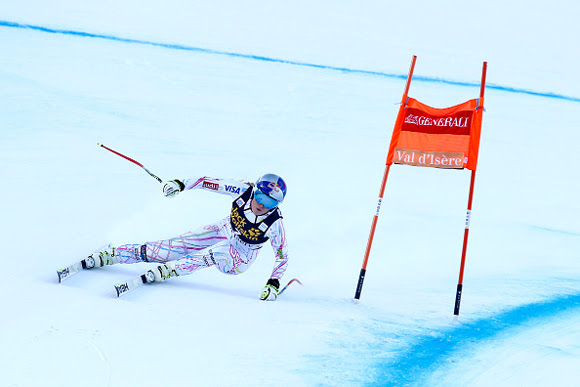 lindsey vonn second in val d'isere