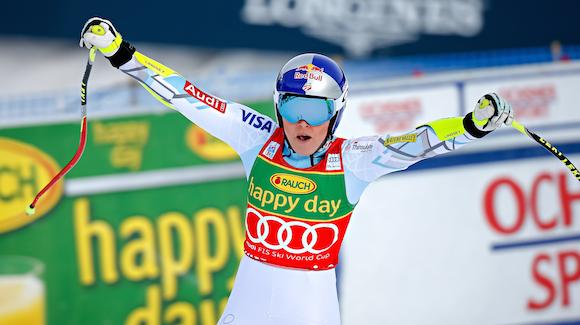 vonn sweeps lake louise