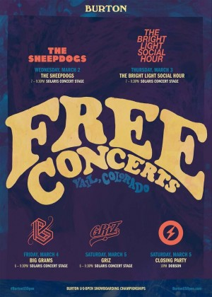 burton free concerts