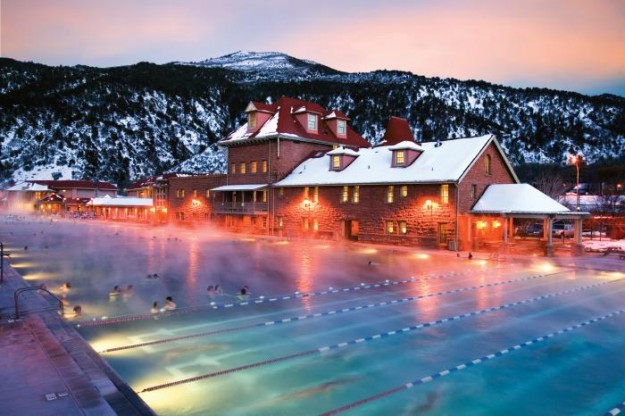 The Glenwood Hot Springs.