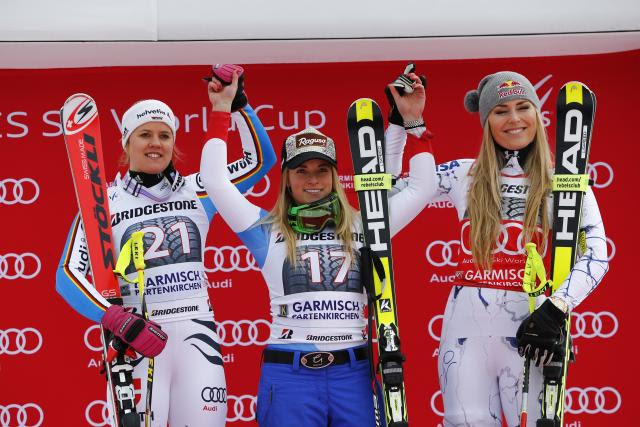 gut beats vonn in garmisch super-G
