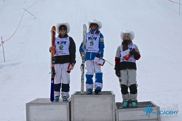 tess johnson on first NorAm podium
