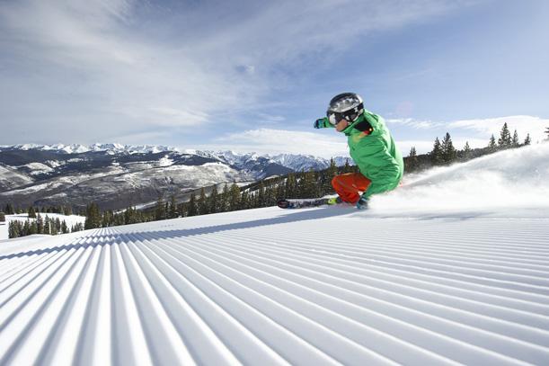 spring skiing Vail