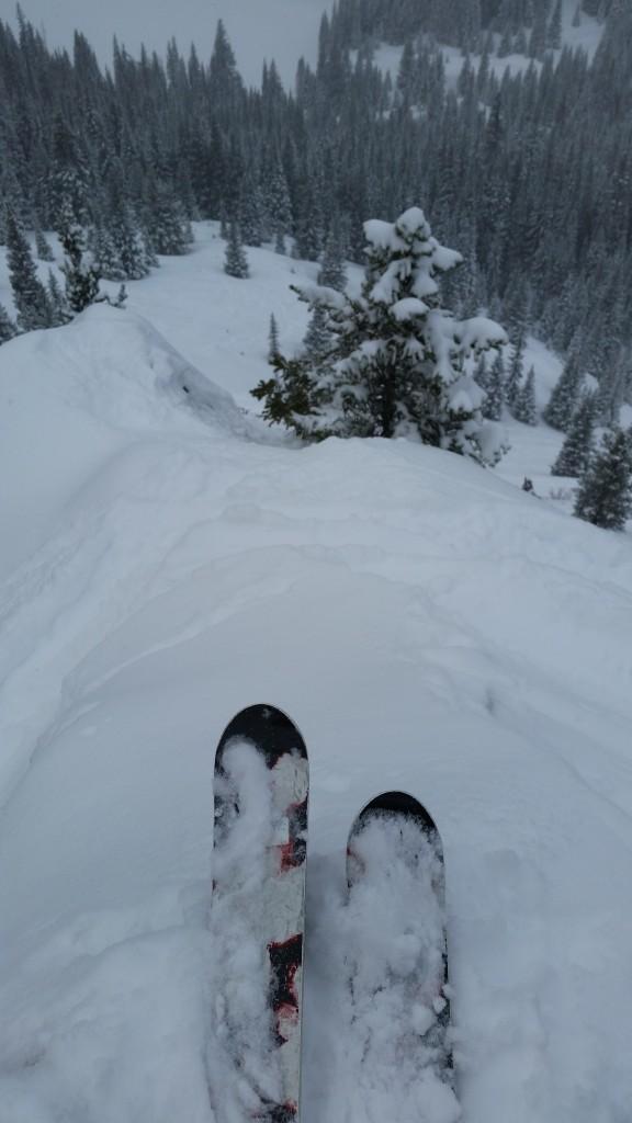 plunging into Alta Chutes 033116