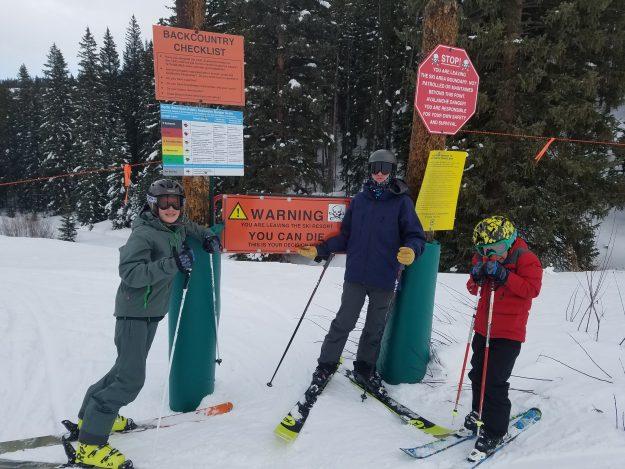 Williams boys skiing Stone Creek 0117