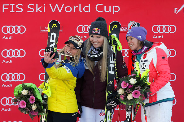 lindsey vonn wins in garmisch